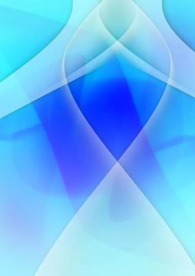 Modern Abstract Art Digital Art - Blue Abstract by Modern Art Prints