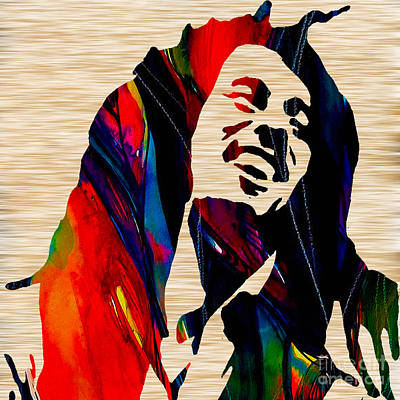 Bob Mixed Media - Bob Marley by Marvin Blaine
