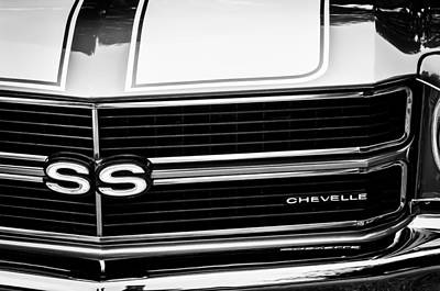 Chevrolet Chevelle Ss Grille Emblem Print by Jill Reger