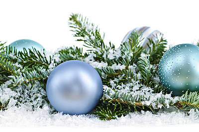 Pine Needles Photograph - Christmas Ornaments by Elena Elisseeva