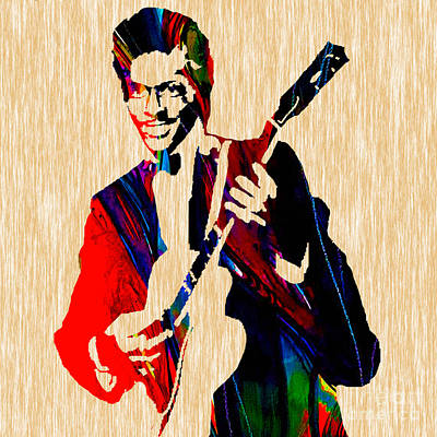 Rock Mixed Media - Chuck Berry Collection by Marvin Blaine