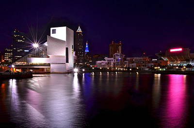 Cleveland Skyline Print by Frozen in Time Fine Art Photography