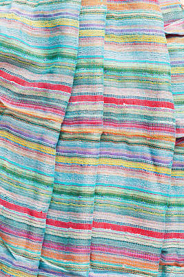 Embroidered Photograph - Colorful Cloth by Tom Gowanlock