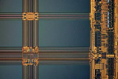 Microchip Photograph - Computer Ram Module by Antonio Romero