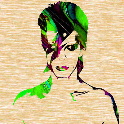 Musician Mixed Media - David Bowie Collection by Marvin Blaine