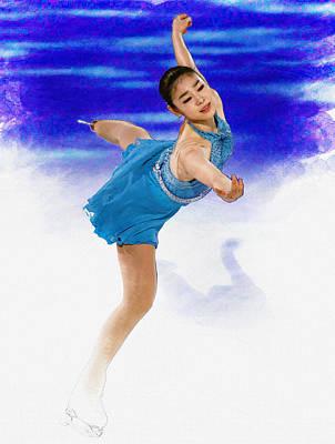 Kim Yuna - Figure Skating Print by Don Kuing
