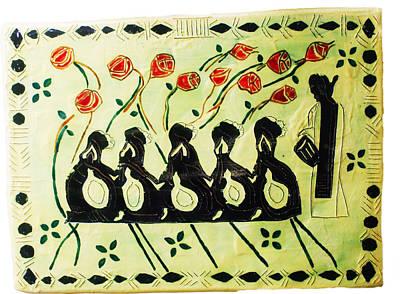 Five Wise Virgins Print by Gloria Ssali