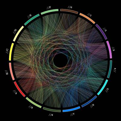 Data Digital Art - Flow Of Life Flow Of Pi by Cristian Ilies Vasile