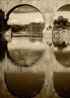 France, Languedoc, Gard, View Of Pont Print by David Barnes