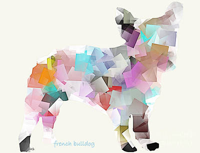 Bulldog Art Digital Art - French Bulldog by Bri B