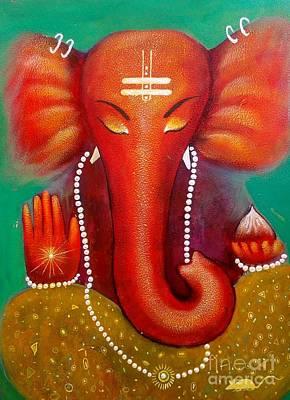 Painting - Ganesha by Sanjay Punekar
