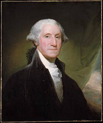 Independence Day Painting - George Washington by Gilbert Stuart