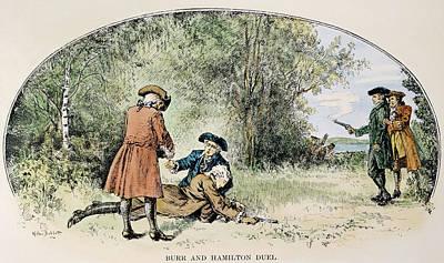 Versus Drawing - Hamilton-burr Duel, 1804 by Granger