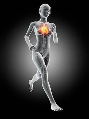 Heart Of A Runner Print by Sebastian Kaulitzki