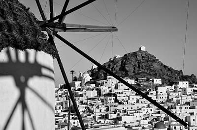 Windmill Photograph - Ios Town by George Atsametakis