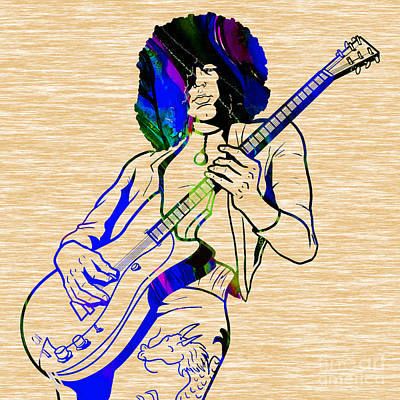 Jimmy Mixed Media - Jimmy Page Collection by Marvin Blaine