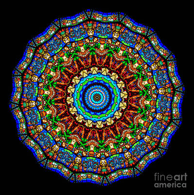 Colorful Photograph - Kaleidoscope Stained Glass Window Series by Amy Cicconi