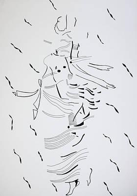 Kiganda Drawing - Kiganda Dance - Uganda by Gloria Ssali