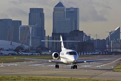 London City Airport Print by David Pyatt