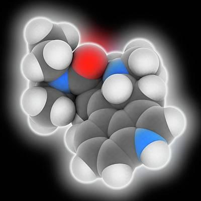 Lsd Drug Molecule Print by Laguna Design