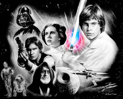 Heat Mixed Media - May The Force Be With You by Andrew Read