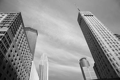 Mural Photograph - Minneapolis Skyline by Frank Romeo