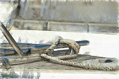 Rope Painting - Nautical Knots by George Atsametakis