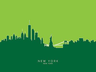 New York Skyline Digital Art - New York Skyline by Michael Tompsett