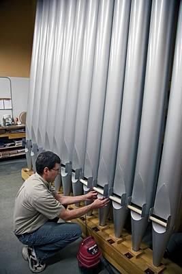 Pipe Organ Factory Print by Jim West