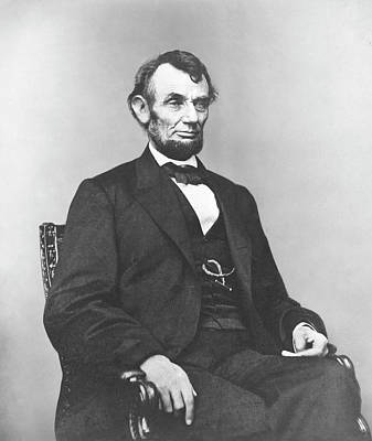 Politicians Photograph - President Lincoln by War Is Hell Store