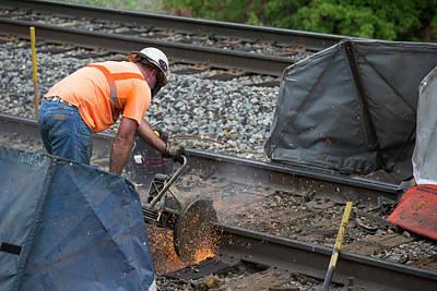 Railway Track Maintenance Print by Jim West