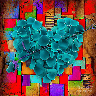Heart Mixed Media - Roses Collection by Marvin Blaine