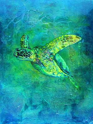Reptiles Mixed Media - Silent Journey by Christine Cholowsky