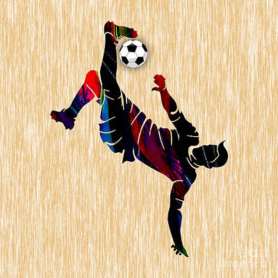 Soccer Photograph - Soccer Player by Marvin Blaine
