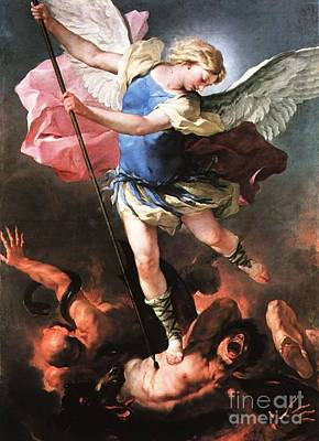 St. Michael Print by Archangelus Gallery