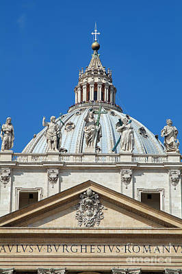 Travel Photograph - St Peter Dome In Vatican by George Atsametakis