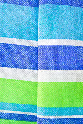 Lime Green Photograph - Striped Material by Tom Gowanlock