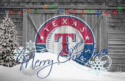Texas Rangers Print by Joe Hamilton
