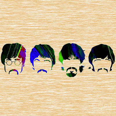 Paul Mixed Media - The Beatles Collection by Marvin Blaine