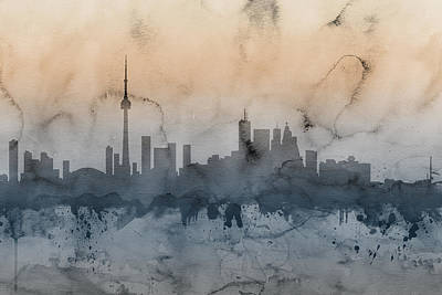 Canada Digital Art - Toronto Canada Skyline by Michael Tompsett