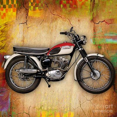1969 Triumph Bonneville Bobber  Print by Marvin Blaine