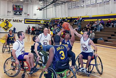 Disabled Sports Photograph - Wheelchair Basketball by Jim West