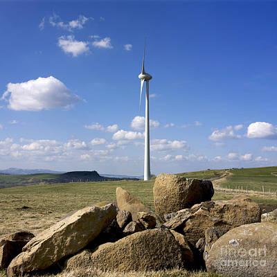 Eco Friendly Print featuring the photograph Wind Turbine by Bernard Jaubert