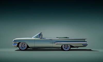 Fin Digital Art - 60 Impala Convertible by Douglas Pittman