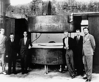 Luis Photograph - 60-inch Cyclotron And Nuclear Physicists by Us Department Of Energy