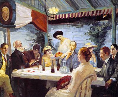 Women Tasting Wine Photograph - Yeats At Petitpas by John Sloan