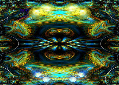 Fraktal Digital Art - 609 - Lucid Infinity .... by Irmgard Schoendorf Welch