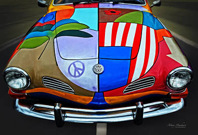 Peter Max Photograph - 60s Wild Ride by Mary Machare