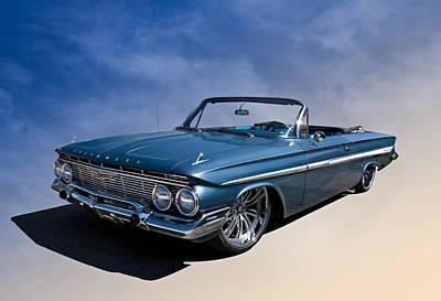 Lowrider Digital Art - '61 Impala by Douglas Pittman