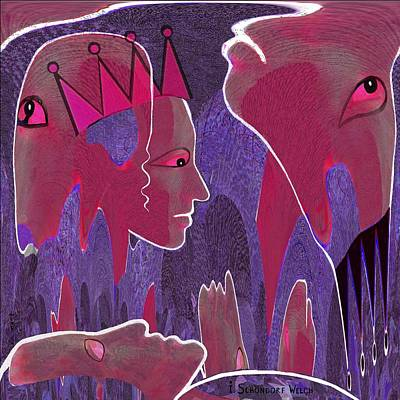 Lyrical Digital Art - 627 - Vibrations    by Irmgard Schoendorf Welch